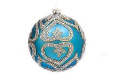 Sfera blu della decorazione di natale Immagine Stock