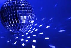 Sfera blu della discoteca fotografie stock