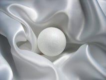Sfera brillante bianca Fotografie Stock