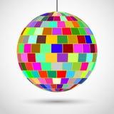Sfera colorata della discoteca Fotografia Stock