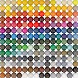 Sfera-colori sotto il catalogo RAL Fotografie Stock