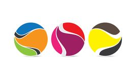 Sfera creativa Logo Template - Logo Design circolare arrotondato - logo di Abstract Modern Company illustrazione vettoriale