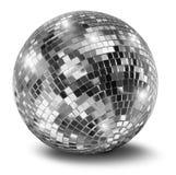 Sfera d'argento dello specchio della discoteca Immagini Stock Libere da Diritti