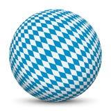 sfera 3D con Diamond Pattern Texture bavarese royalty illustrazione gratis