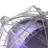 sfera 3d degli anelli multicolori in nuvola dalle gocce multicolori Fotografie Stock Libere da Diritti