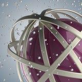 sfera 3d degli anelli multicolori in nuvola dalle gocce multicolori Immagine Stock Libera da Diritti