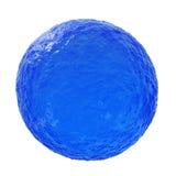 Sfera del blu di oceano Fotografie Stock Libere da Diritti