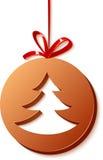 Sfera del cioccolato di Cristmas con l'albero Immagine Stock Libera da Diritti