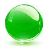 sfera del cristallo 3D Fotografia Stock