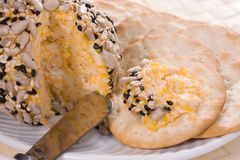 Sfera del formaggio del sesamo Immagine Stock