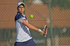 Sfera del fuoco del giocatore di tennis Fotografia Stock Libera da Diritti