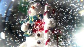 Sfera del pupazzo di neve stock footage