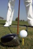 Sfera del und del club di golf Immagini Stock