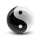 Sfera del Yang e di Yin Immagine Stock