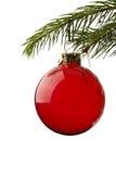 Sfera dell'albero di Natale Fotografia Stock
