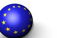 sfera della bandierina 3d di Unione Europea Immagini Stock
