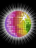 Sfera della discoteca del Rainbow Fotografia Stock