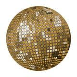 Sfera della discoteca dell'oro Immagini Stock