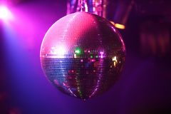 Sfera della discoteca nel movimento Immagini Stock Libere da Diritti