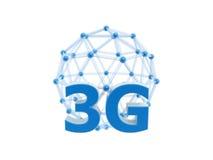 sfera della gabbia della rete 3g illustrazione di stock