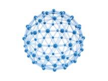 sfera della gabbia della rete 4g Illustrazione di Stock
