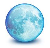 Sfera della luna blu Fotografie Stock Libere da Diritti
