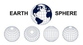 Sfera della terra Illustrazione Vettoriale