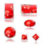 sfera delle icone dello spazio in bianco 3D Fotografia Stock