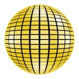 sfera dello specchio della discoteca 3D isolata su priorità bassa bianca Fotografie Stock Libere da Diritti