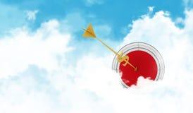 Sfera di affari Si appanna lo scopo Freccia dorata - illustrazione vettoriale
