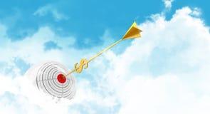 Sfera di affari Si appanna lo scopo Freccia dorata - Immagini Stock Libere da Diritti