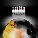 Sfera di bowling del fuoco Immagini Stock Libere da Diritti