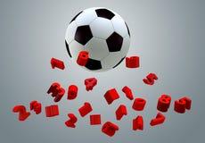 sfera di calcio 3D Immagine Stock Libera da Diritti