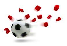 sfera di calcio 3D Fotografia Stock