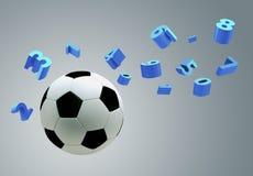 sfera di calcio 3D Immagini Stock