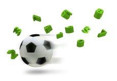 sfera di calcio 3D Fotografia Stock Libera da Diritti