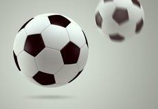 sfera di calcio 3D Fotografie Stock Libere da Diritti