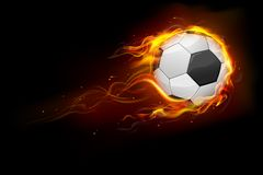 Sfera di calcio ardente Immagine Stock Libera da Diritti