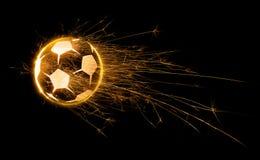 Sfera di calcio ardente Immagini Stock