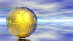 Sfera di calcio astratta Immagini Stock