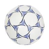 Sfera di calcio blu e bianca. (isolato) Fotografia Stock Libera da Diritti