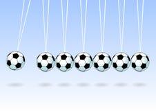 Sfera di calcio d'equilibratura Immagine Stock
