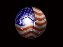 Sfera di calcio degli S.U.A. Fotografie Stock Libere da Diritti