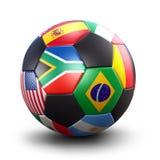 Sfera di calcio della tazza di mondo fotografie stock libere da diritti