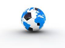 Sfera di calcio della terra Fotografia Stock