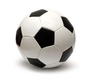 Sfera di calcio di cuoio di gioco del calcio Fotografie Stock Libere da Diritti