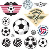 Sfera di calcio di gioco del calcio Fotografia Stock