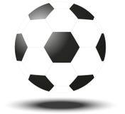 Sfera di calcio isolata su bianco Illustrazione di vettore Fotografia Stock