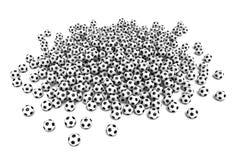 Sfera di calcio isolata su priorità bassa bianca royalty illustrazione gratis