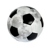 Sfera di calcio sotto forma di la luna. (isolato) Immagine Stock Libera da Diritti